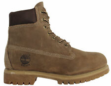 Timberland 6 Inch Mens Boys Womens Girls Taupe Leather Lace Up Boots 71594 D117