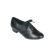 Mens / Boys Black Oxford low heel Leather Tap Shoes - all sizes