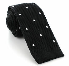 Michelsons UK - Silk Knitted Skinny Spot Tie