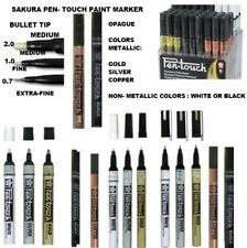 Sakura Pen Touch Bullet Tip Paint Marker-3 metallic colors , black or white-