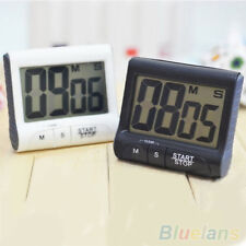 New Large LCD Digital Kitchen Timer Count-Down Up Clock Loud Alarm Black White