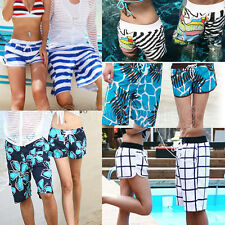 Fashion Mens Womens Lovers Couple Zebra Various Beach Surf Board Swim Shorts New