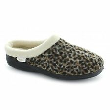 Dr Keller MARTHA Womens Ladies Slip On Soft Mule Slippers Animal Print Leopard
