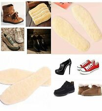 New Women Men Thick Plush Warm Insole Artificial Wool Absorb Sweat Insoles 1Pair