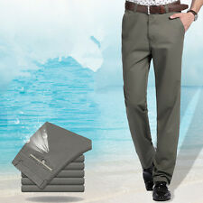 Men's Classic Straight Loose Trousers Casual Long Pants British Business