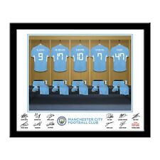 Personalised MANCHESTER CITY FC Dressing Room Print in Folder or Frame