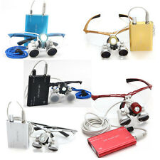 Medical Dental Lupenbrille Surgical Binocular Loupes Glass / LED Head Light Lamp