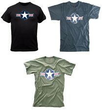 vintage  military t-shirt army air corp corps logo various colors rothco 66300