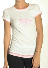 JPC Equestrian Tuff Rider Hoof Prints Pink Tissue Trotter Tee HORSE LOVER Gift