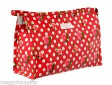 VINTAGE ROSE  Ladies Large Travel  Wash  Cosmetic  Toiletry Bag  RED -  Danielle