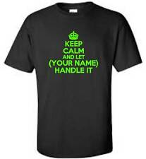 Keep Calm And Let (Your Name) Handle It Child T-Shirt Personalized Youth Tee