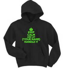 Keep Calm And Let (Your Name) Handle It Mens Hoodie Custom Hooded Sweatshirt