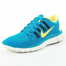 NIKE WMNS FREE 5.0 TROPICAL TEAL YELLOW BLACK 580591 370 SIZE 6 6B2