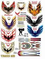 1:18 FIREBIRD TRANSAM DECALS FOR DIECAST, MODEL CARS & DIORAMAS DISPLAYS