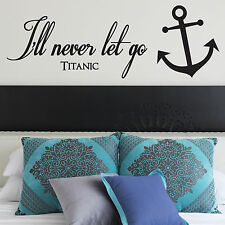 TITANIC, LARGE WALL STICKER, Quote, Film, Famous, Decal, WallArt, SS353