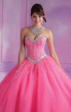 Sweetheart Beaded Tulle 15 Quinceanera Dresses Formal Pageant Evening Ball Gowns