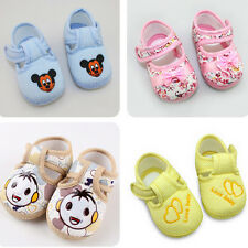 Baby Infant Boy Girl Bowknot Mickey Child Cotton Toddler Soft Walking Shoes SK