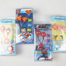 3.5mm Superman Spiderman Earphone Headset Earbuds for Mp3 Phone Music Device