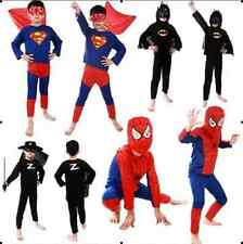 Halloween Kids Boy's Cosplay Costume Perform Prop Clothes Superman Suit +Goggles