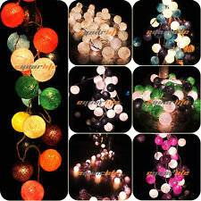 20/35 COTTON BALL FAIRY LED STRING LIGHTS WEDDING PARTY PATIO Christmas DECOR