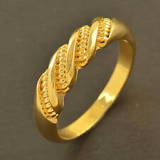 Classic 9K Gold Filled EMBOSSED Mens & Unisex Ring,size 7,8,9,10,Z3574