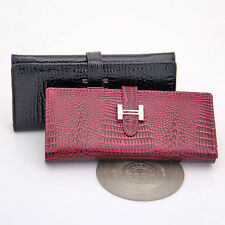 One Piece New Women Fashion Wallet Crocodile Pattern Genuine Leather Long Purse