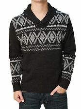 RetroFit Men's Long Sleeve Cowl Neck Pull Over Sweater