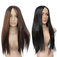 Popular Women Girls Synthetic Long Straight Hair Full Wigs Cosplay Costume Hot