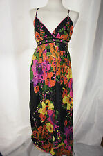 Yumi designer floral cotton maxi dress S UK 10 BNWOT