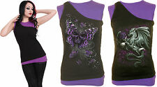 SPIRAL DIRECT 2in1 Slant Top Purple and Black/Rock/Metal/Roses/Dragon/Skull/Tang