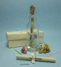 18TH BIRTHDAY MESSAGE IN A BOTTLE PERSONALISED GIFT WITH CLIP ON CHARM
