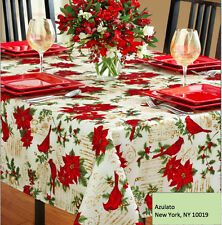 Christmas Tablecloth Cardinal