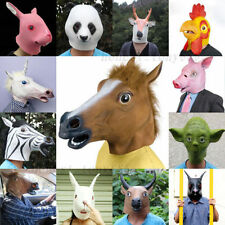 New Horse Unicorn Animal Head Mask Creepy Halloween Costume Theater Prop Novelty