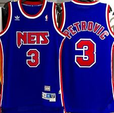DRAZEN PETROVIC NEW JERSEY NETS HARDWOOD CLASSICS THROWBACK SWINGMAN JERSEY