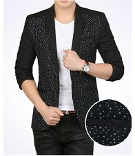 Fashion Slim casual one button Men's star point printing (Blazers) suit jacket