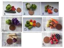 MINIATURE VEG AND FRUIT  DOLLS FOOD
