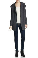 NWT VINCE Honeycomb Knit Jacket in Gray Retail $395