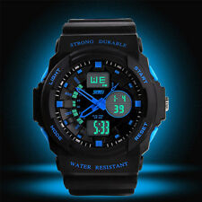 New Dual Display Multifunction LED Boy's/Men's Sports Wrist Watch Christmas Gift