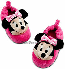 CUTE NEW Disney Store Minnie Mouse Girls SLIPPERS House Shoes Pink 5/6-11/12
