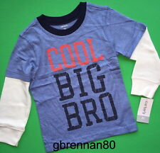 ~NEW~ BIG BRO Baby Boys Brother Shirt 18-24 Months 2T 3T 4T 5T 4 5 6 7 Gift!