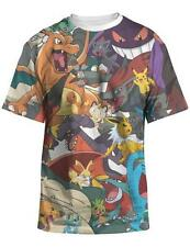 Pokemon All Over Sublimation Adult Men T-Shirt LICENSED Pikachu