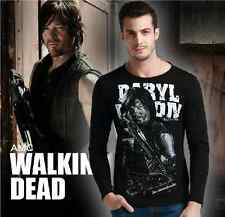 NEW The Walking Dead Daryl Dixon Graphic streetwear black Men T-shirt longsleeve