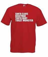 I BELIEVE santa fairy bogeyman monster christmas birthday gift KIDS TOP T SHIRT