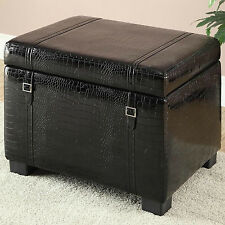 Homestar Inspirations by Broyhill Leather Storage Ottoman
