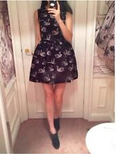 NEW AUTH 2014 Red Valentino Tulle-overlay swan-print dress In  pink