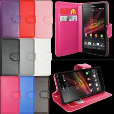Flip PU Leather Wallet Case Cover Stand Pouch For All Sony Xperia Phones