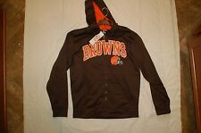 Cleveland Browns Hooded Sweatsirt  FULL ZIP NEW WITH TAGS THERMA BASE NWT M-L XL