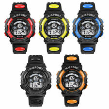 Waterproof Cool Mens Boy's Kids Digital LED Quartz Alarm Date Sports Wrist Watch