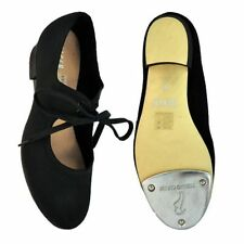 Black Bloch canvas low heel tap shoes (SO328) - all sizes