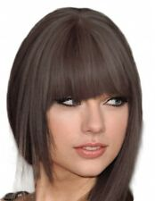 THICK HUMAN HAIR CLIP IN ON FRINGE BANGS *FREE COLOUR MATCH SERVICE* CUSTOM MADE